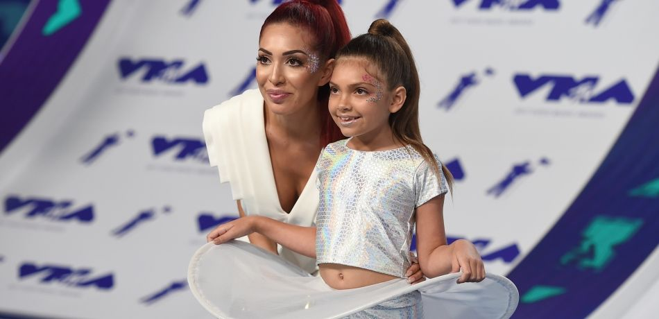 Farrah Abraham shared her butt injections on Instagram, and the 'Teen Mom' star's fans slammed her for letting Sophia, 9, watch.