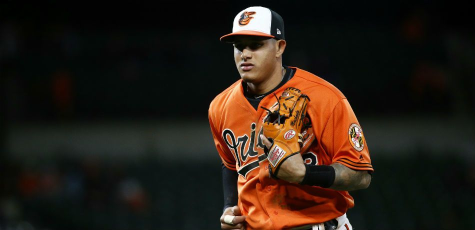 Manny Machado jogs on the field during game vs. the Minnesota Twins.