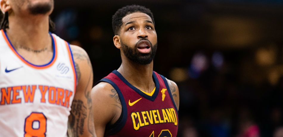 Tristan Thompson appears in a game against the New York Knicks.