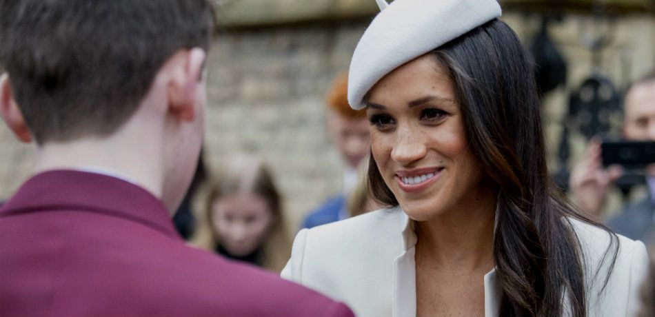 Meghan Markle wears white outfit to greet well-wishers outside of the Commonwealth service at Westminster Abby