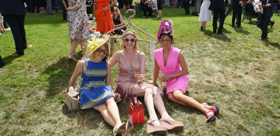 Racegoers relax on day 2 of Royal Ascot at Ascot Racecourse on June 20, 2018 in Ascot, England