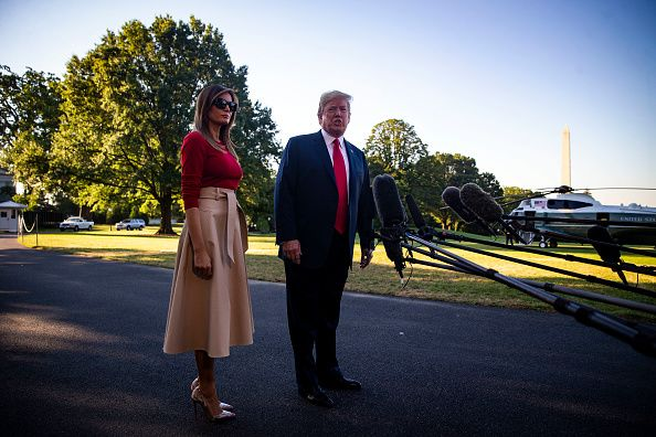 President And Mrs Trump Depart White House For NATO Summit In Brussels