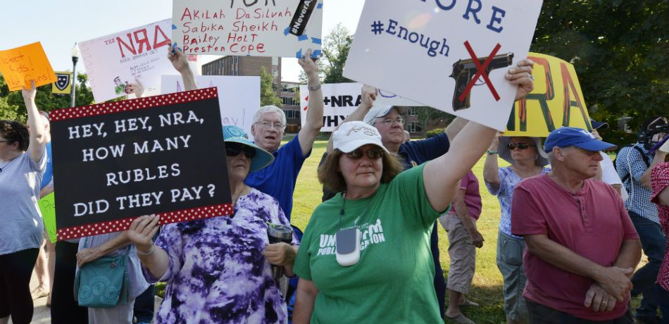 protesters descended upon the nra headquarters in virginia