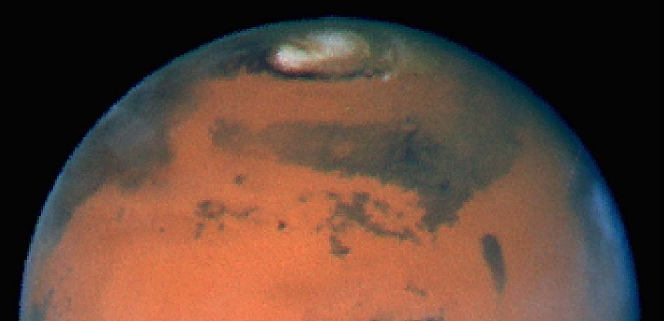 Hubble captures this photo of planet Mars.