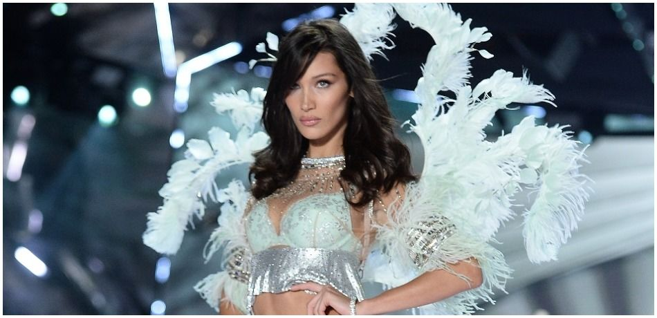 Bella Hadid walks the runway during the 2018 Victoria's Secret Fashion Show