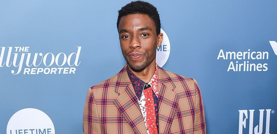 Chadwick Boseman attending The Hollywood Reporter's Power 100 Women In Entertainment.