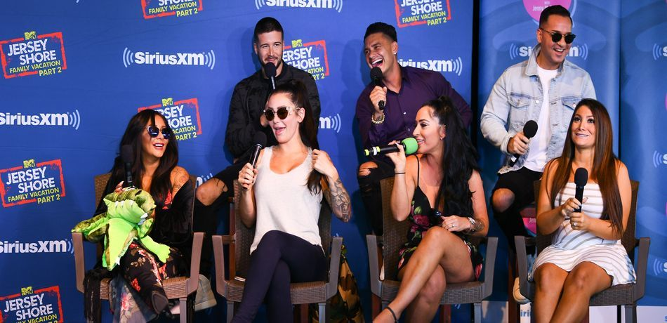 Jersey Shore Cast attending Jenny McCarthy's 'Inner Circle' Series On SiriusXM.