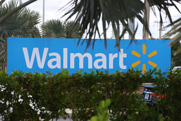 A Walmart sign is seen in Miami, Florida