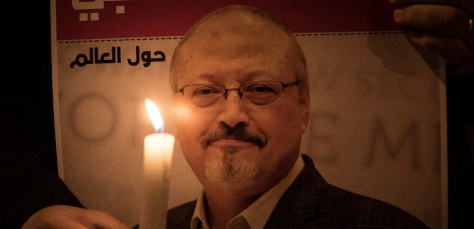 An image of slain journalist Jamal Khashoggi.