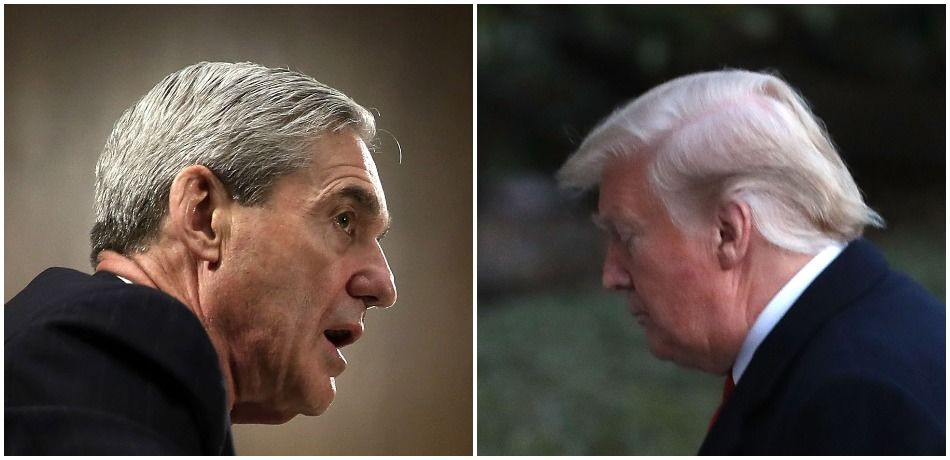 Left, special counsel Robert Mueller; right, President Donald Trump.