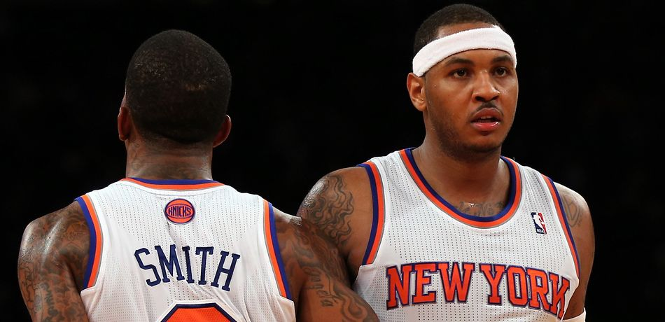 Former Knicks teammates Carmelo Anthony and JR Smith