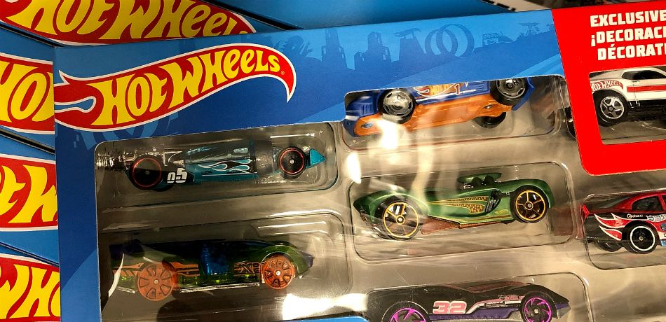 Hot Wheels, made by Mattel, displayed on a shelf at a Target store on July 25, 2018, in San Rafael, California.