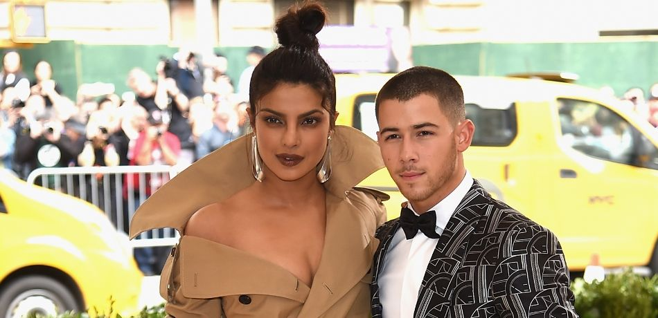 Priyanka Chopra and Nick Jonas attend the 'Rei Kawakubo/Comme des Garcons: Art Of The In-Between' Costume Institute Gala