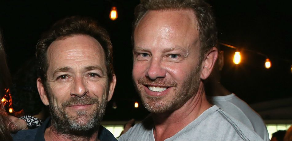 Luke Perry and Ian Ziering