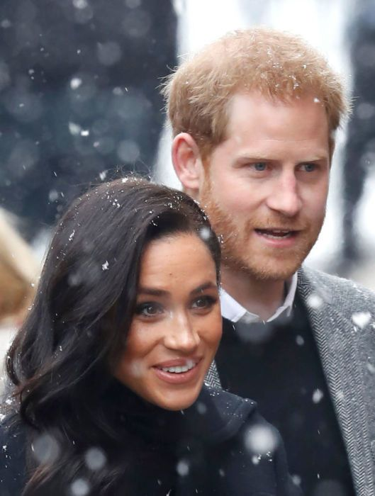 Meghan and Harry in the snow