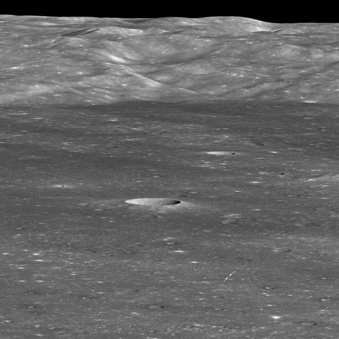 NASA LRO photo of the Chang'e-4 landing site on the moon.