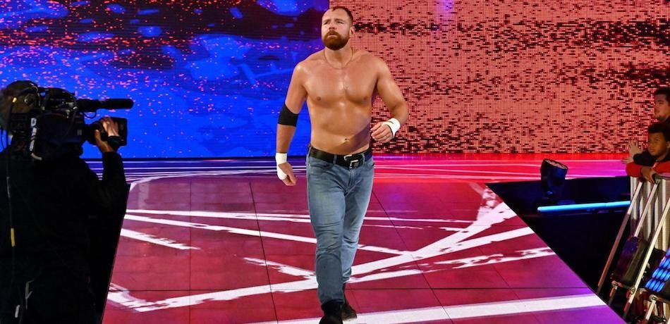 Dean Ambrose walks toward the ring on an episode of Monday Night Raw.