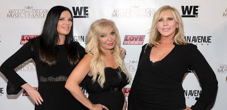Patti Stanger, Lisa Galos and Vicki Gunvalson attend WE tv's LOVE BLOWS Premiere Event at Flamingo Rum Club on August 16, 2017 in Chicago, Illinois.