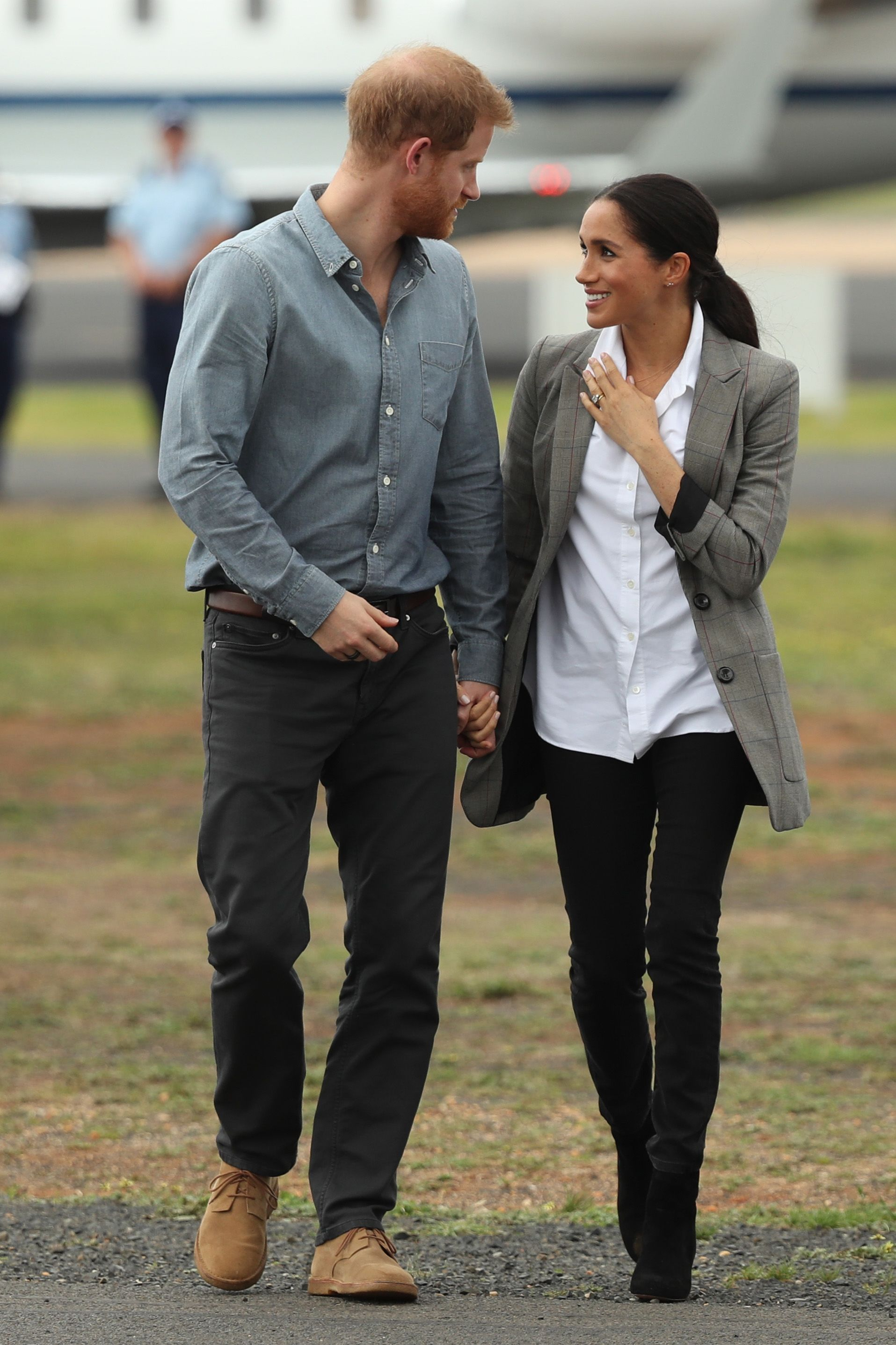 Meghan and Harry in casual wear during Australia tour