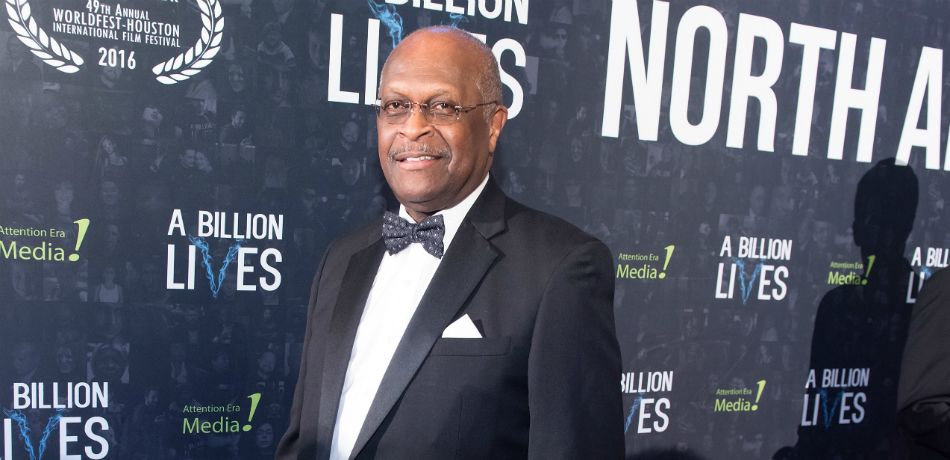 Herman Cain at a film premiere.