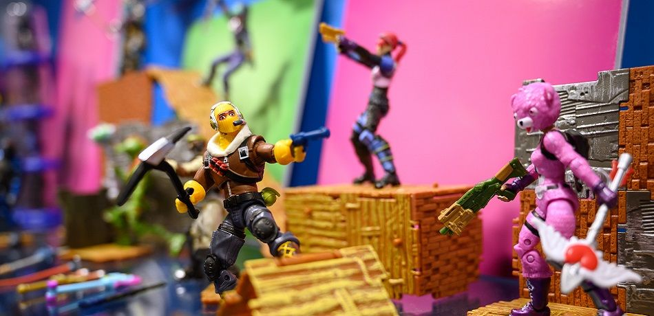 "A selection of ""Fortnite"" action figures are seen on a display at the annual ""Toy Fair"" at Olympia London on January 22, 2019 in London, England. The Toy Fair is the UK's largest dedicated game and hobby event and aims to showcase the most anticipated products for the year ahead"