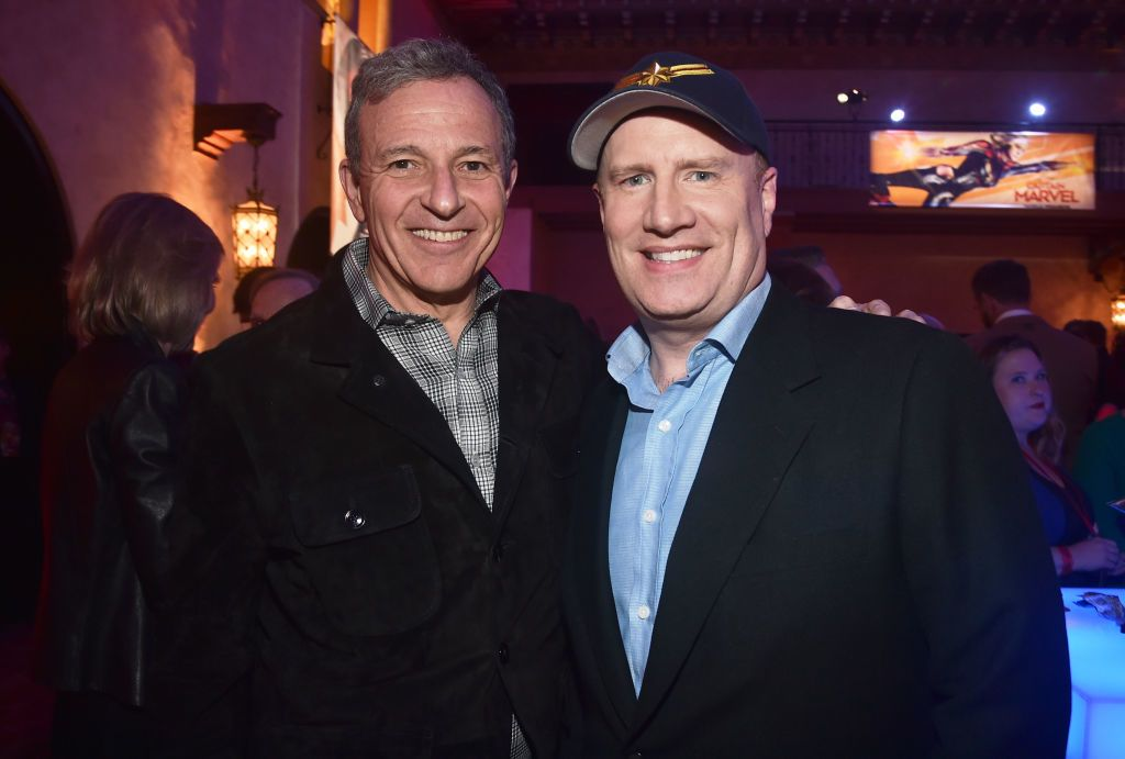 Bob Iger and Kevin Feige attend the Los Angeles World Premiere of Marvel Studios' 'Captain Marvel'.