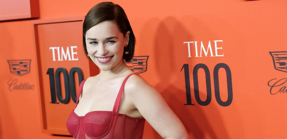 Emilia Clarke, in much more cheerful times