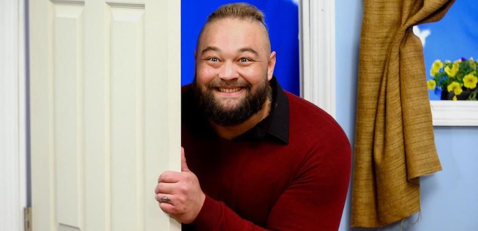 WWE superstar Bray Wyatt opens the door to kick off an episode of 'Firefly Fun House' on WWE Monday Night Raw.