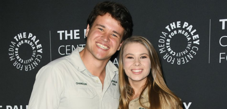 Bindi Irwin and Chandler Powell appear on the red carpet