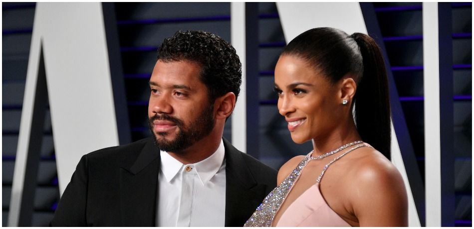 Russell Wilson (L) and Ciara attend the 2019 Vanity Fair Oscar Party hosted by Radhika Jones at Wallis Annenberg Center for the Performing Arts on February 24, 2019 in Beverly Hills, California.