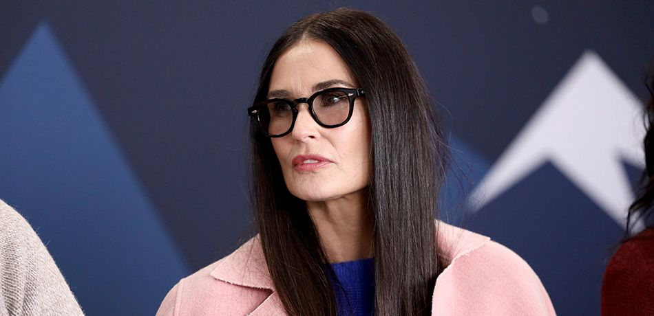 Demi Moore of 'Corporate Animals' attends The IMDb Studio at Acura Festival Village on location at The 2019 Sundance Film Festival - Day 4 on January 28, 2019 in Park City, Utah.