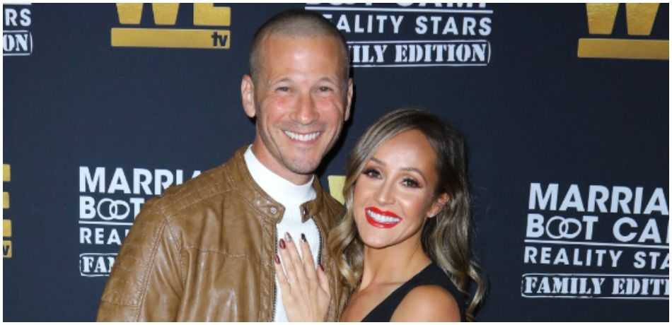 J.P. Rosenbaum and Ashley Hebert Rosenbaum attend WE tv celebrates the premiere of 'Marriage Boot Camp'