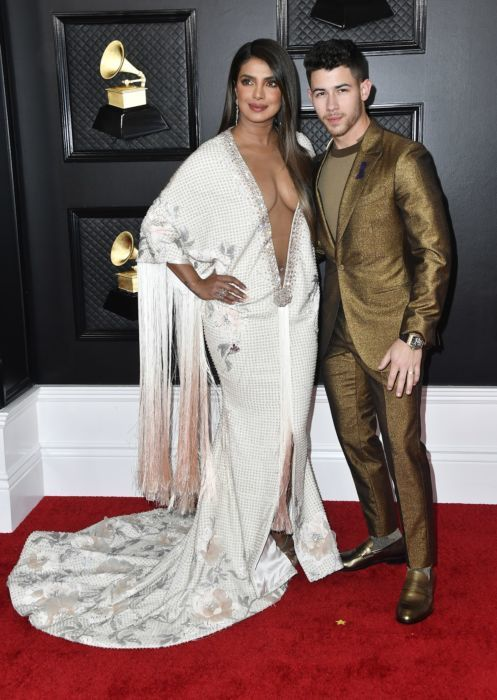 Priyanka Chopra and Nick Jonas of music group Jonas Brothers attend the 62nd Annual GRAMMY Awards at STAPLES Center on January 26, 2020 in Los Angeles, California.