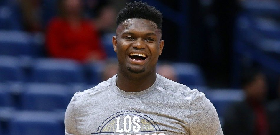 Zion Williamson before an NBA game.