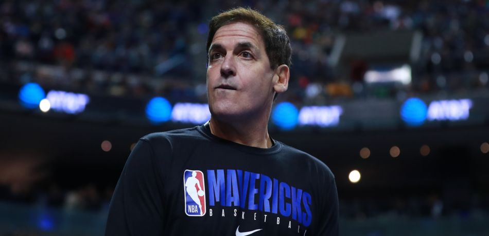 Dallas Mavericks owner Mark Cuban looks on during a 2019 game in Mexico.