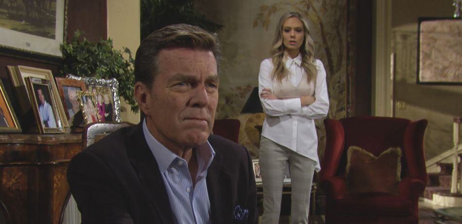 Peter Bergman and Melissa Ordway appear in a scene on The Young and the Restless.