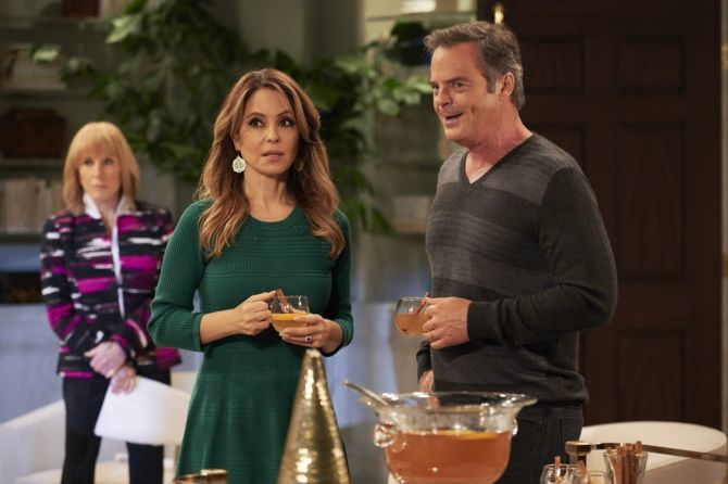 Lisa LoCicero and Wally Kurth on the set of 'General Hospital'