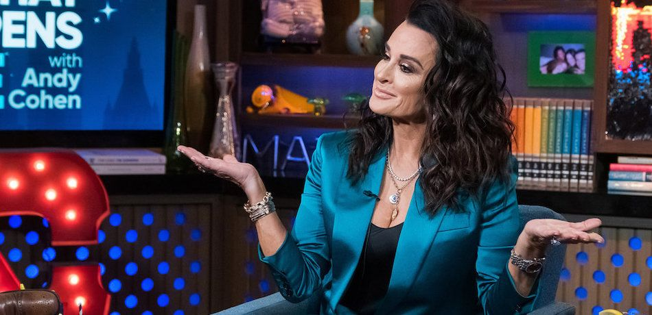 Kyle Richards appears on 'Watch What Happens Live'.